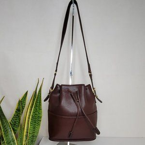 Coach • Vintage Brown Leather Bucket Bag Purse